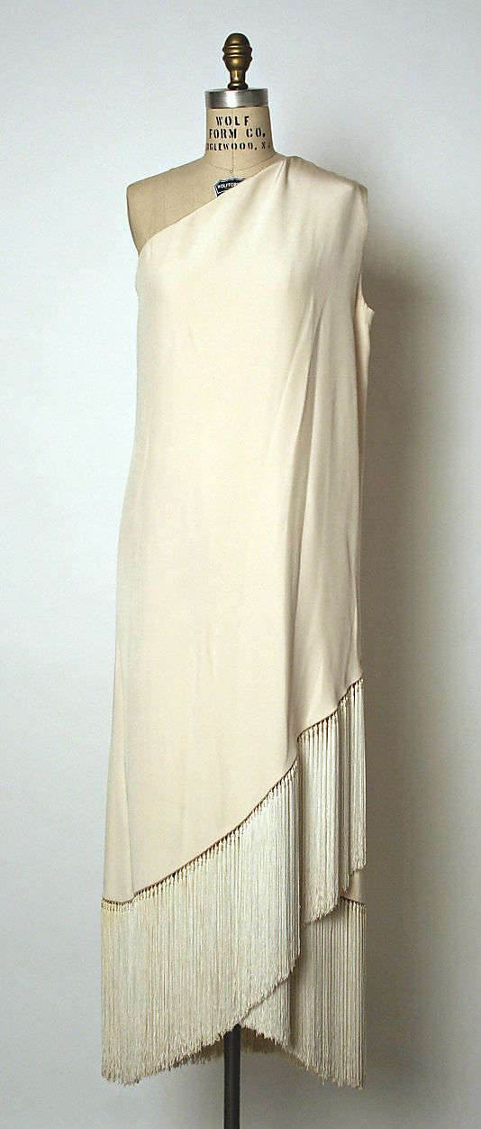 Dress, Evening  House of Balmain  (French, founded 1945)  Designer: Pierre Balmain (French, St. Jean de Maurienne 1914–1982 Paris) Date: ca. 1969