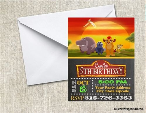 The Lion Guard Birthday Party Invitation
