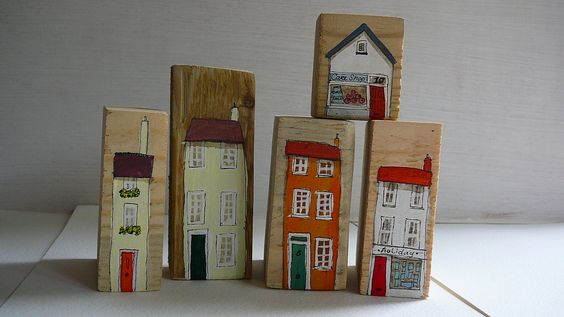 Sally's Shed - autumn coloured little wooden houses