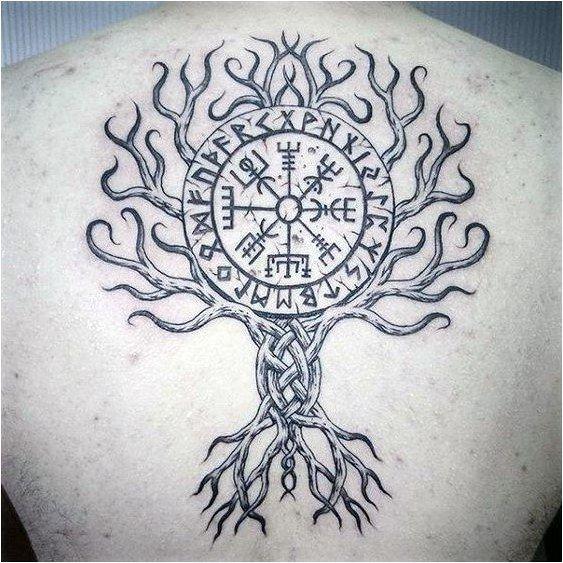 wikinger kompass tattoo
