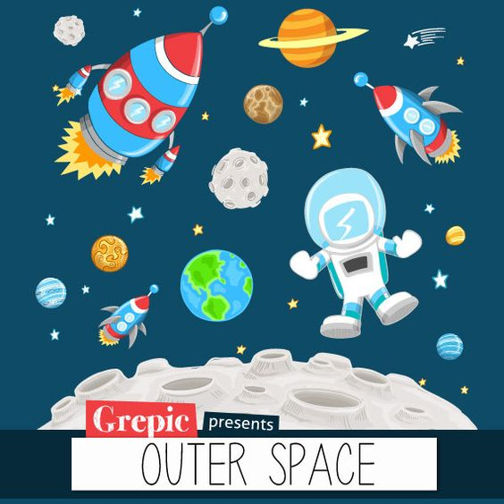 space clip art astronauts spaces spaceships scrapbooking card making ...