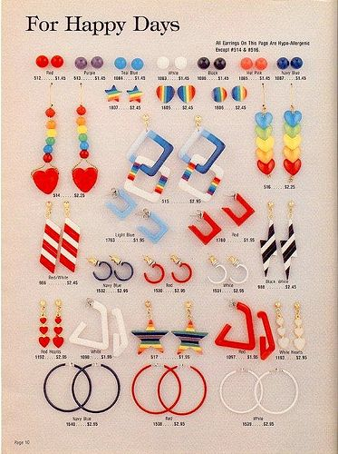 I remember wearing these plastic-y earrings in the 80s. No wonder my earlobes always itched!