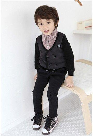 Fashion Korean Fall Winter Style Handsome Boy Baby Hoodies Velvet Queenie 39 S Athletic Top Outwear