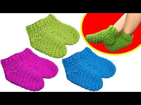 Como Hacer Medias A Crochet Paso A Paso Youtube Calcetines De Ganchillo Medias Crochet Croche Paso A Paso