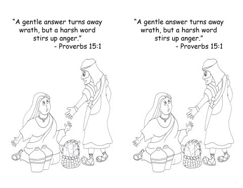 Feb 3 2014 Proverbs 15 1 Coloring Page Proverbs Childrens Church Lessons Anger Worksheets