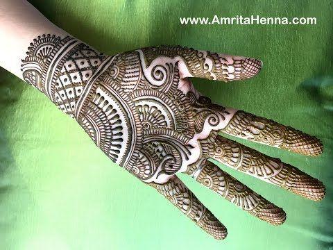 Traditional Rajasthani Bridal Henna Mehndi Design Full Hand