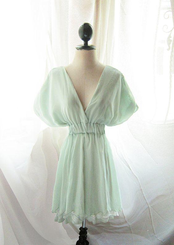 Marie Antoinette Mint Green Dress