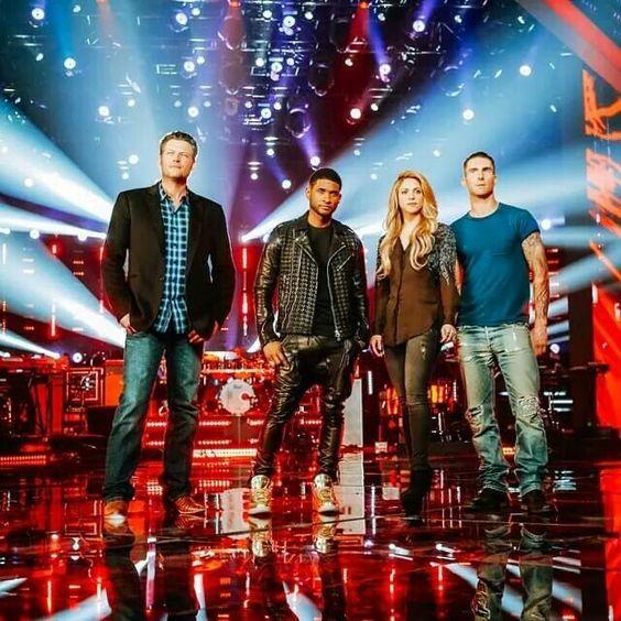 Usher, Blake, Shakira, and Adam Levine!