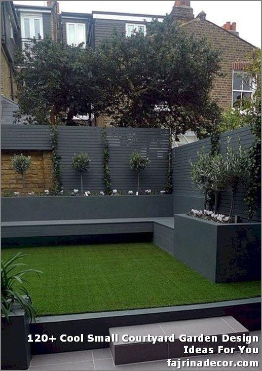 120 Cool Small Courtyard Garden Design Ideas For You In 2020 Courtyard Gardens Design Small Courtyard Gardens Modern Garden Design