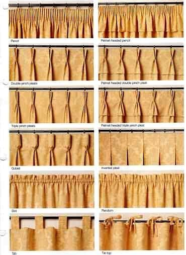 Different type of drapery pleats drapery panels for Drapes or curtains difference