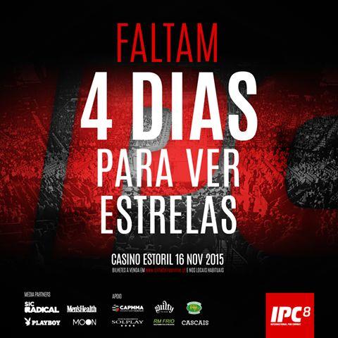 Faltam 4 dias! http://www.bol.pt/Comprar/Bilhetes/30899/210019/Sectores #IPC8 #CasinoEstoril #16Novembro #mma #Portugal #CAPMMA