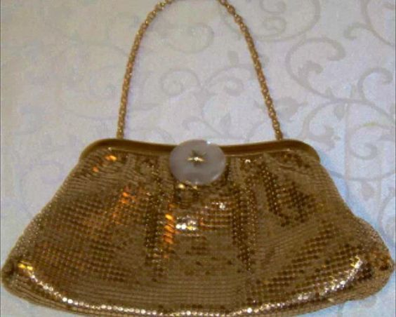 Vintage Whiting and Davis Mesh Purse Mother of par BlingBaubles