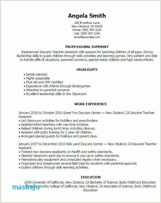 Sample Resume For Kindergarten Teacher Fresher - BEST ...