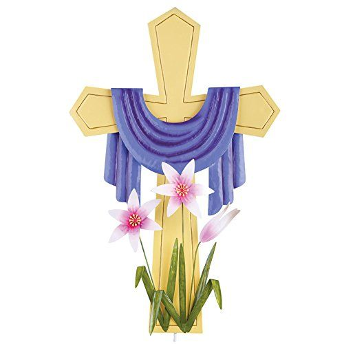 Easter Cross Yard Decoration Description This Charming Cross Stakes Easily Anywhere In Your Yard Or Garden A Yard Decor Collections Etc