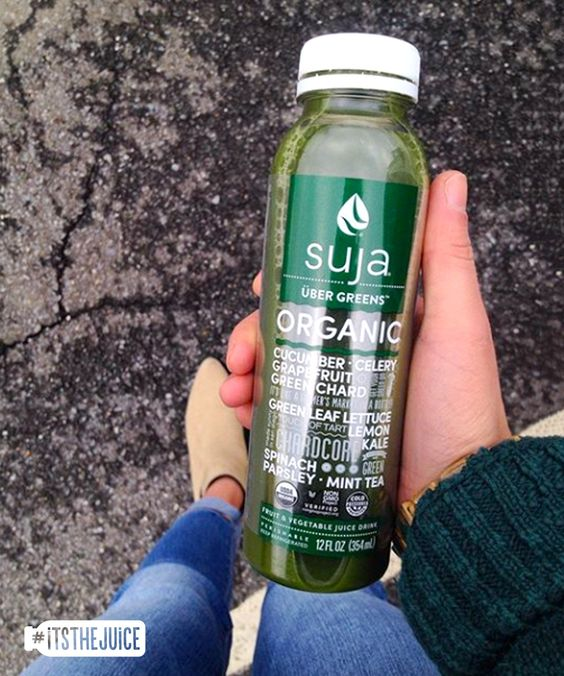 When you're in uber need of some greens… #itsthejuice #suja