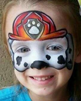 paw patrol maquillage enfant pinterest peintures de visage chiens et feu. Black Bedroom Furniture Sets. Home Design Ideas