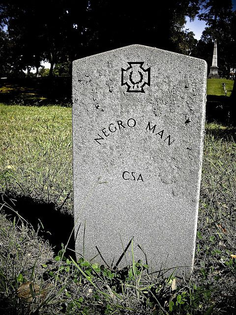 black rebel...how sad his name is unknown. Confederate cemetery. Chattanooga, Tennessee.: