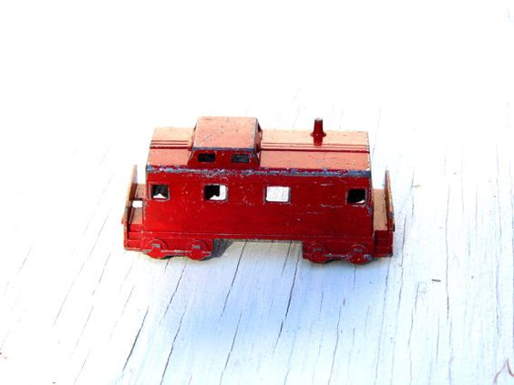 Vintage Midge Toy Train Caboose Mid Century by PaperWoodVintage, $6.50