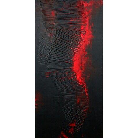"""Blood"" acrylic Size 800x400"