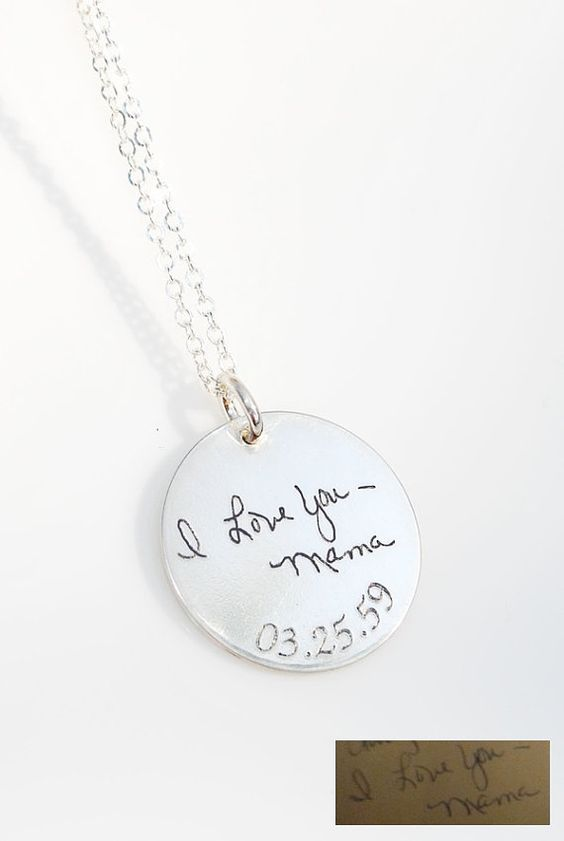 Actual handwriting immortalized in sterling silver - a loved one's or your own  - personalized gift - Memorial necklace or bracelet on Etsy, $52.10 CAD