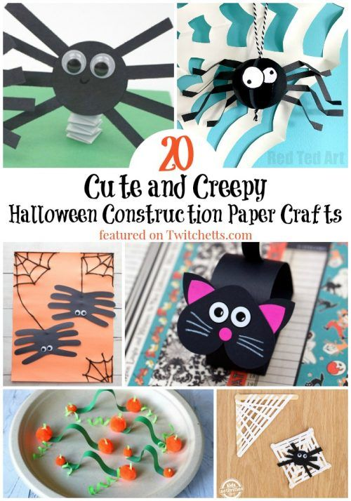 Halloween Construction Paper Crafts Are An Easy Way To Get Creative During This Spooky S Halloween Paper Crafts Construction Paper Crafts Paper Crafts For Kids