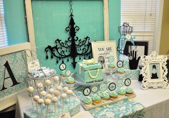 "Photo 8 of 24: Tiffany & Co., Breakfast at Tiffany's Birthday / Birthday ""Ally & Co. Birthday"" | Catch My Party:"