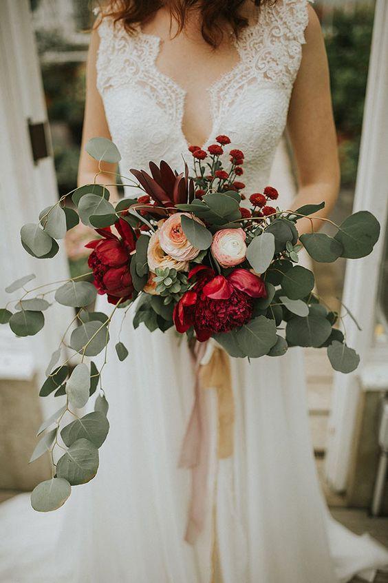 Ý tưởng bó hoa cô dâu. Size hoa nhập khẩu ở VN sẽ nhỏ hơn hình thật khoảng 30%