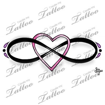 marketplace tattoo eternal love infinity heart design 15434 tattoo ideas. Black Bedroom Furniture Sets. Home Design Ideas