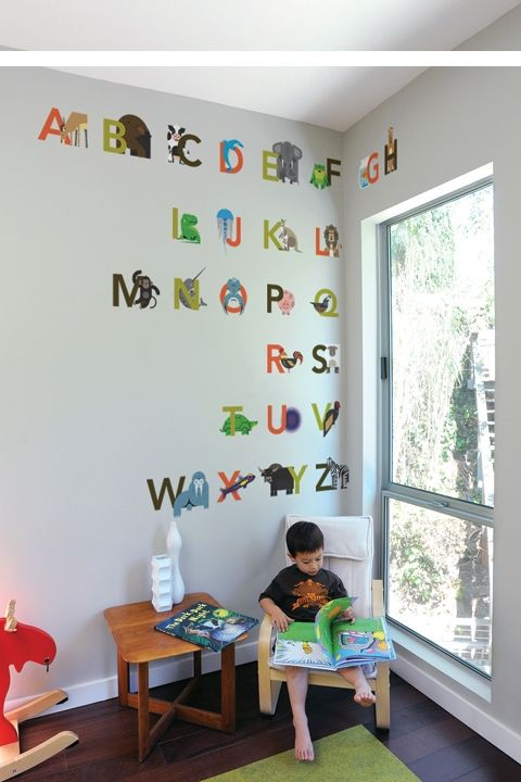 alphabet wall decals from blik