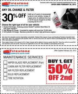 oil change coupon tire rotation