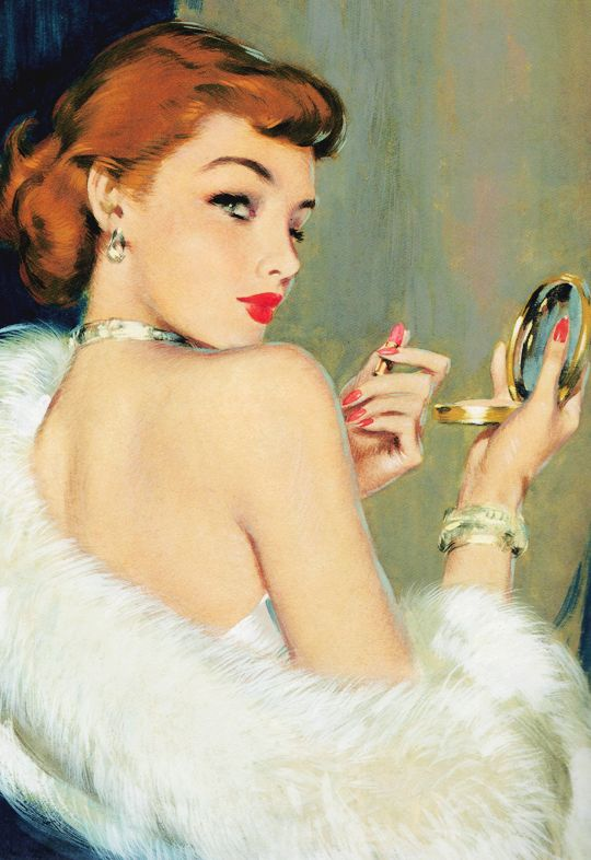 vintagegal:  Illustration by David Wright c. 1948: