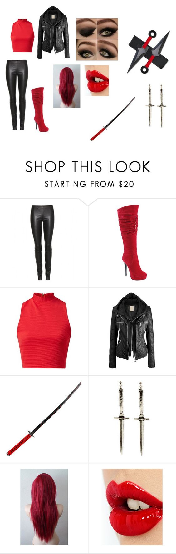 """""""Shredder"""" by wildchild-98 ❤ liked on Polyvore featuring The Row, Summer Rio, Whetstone Cutlery, Pamela Love and Charlotte Tilbury"""