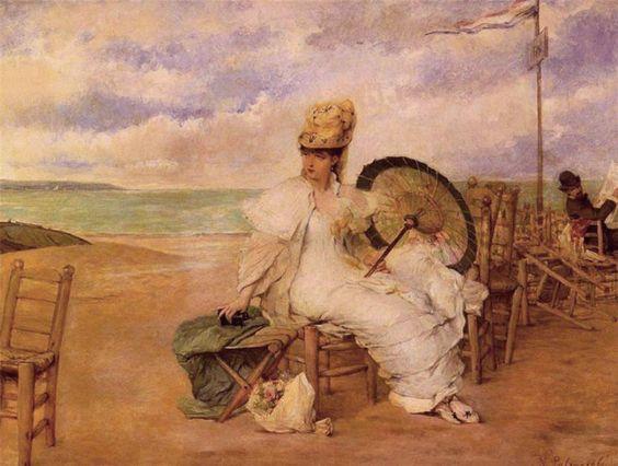 Gonzàlez, Vicente Palmaroli Y (b,1834)- Beach
