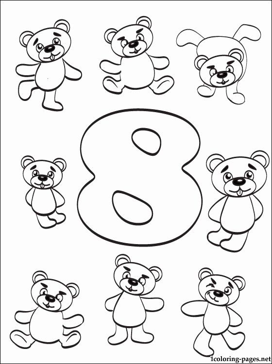 Number 8 Coloring Page Best Of Number 8 Eight Coloring Page Coloring Pages Memorial Day Coloring Pages Summer Coloring Pages