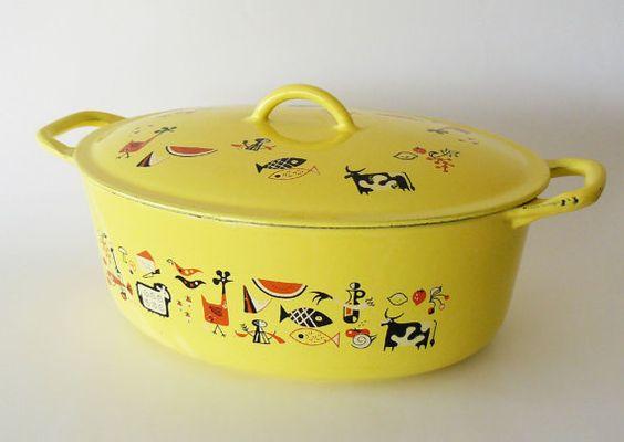 Vintage MidCentury Markley Descoware Dutch Oven by belmodo on Etsy