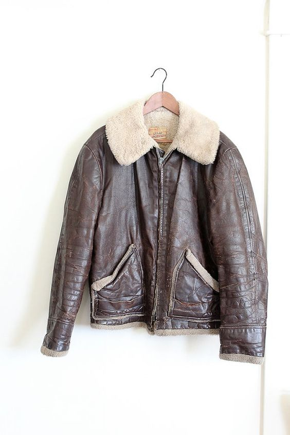 RARE vintage 1950s bomber jacket // mens 50s leather motorcycle ...