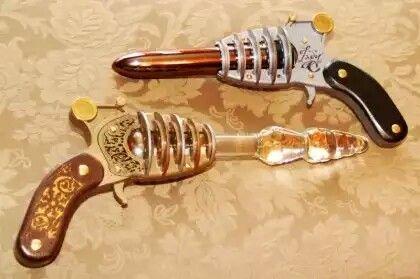 Steampunk vibrator gun
