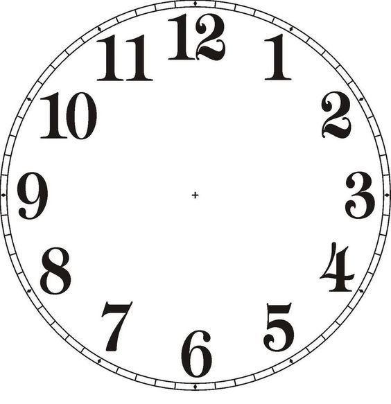 Pin Auf Ausmalbilder Uhr
