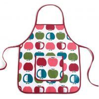 Penny Scallan Juicy Apple Apron - $24.95. Available at: http://www.mamadoo.com.au/kids-clothes/girls-clothes/girls-hats-and-accessories/ #girls #hats #accessories #hair #hairties #headbands