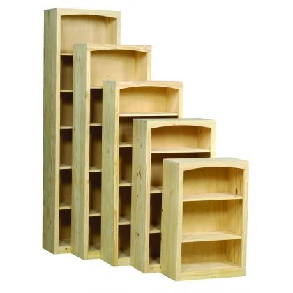 Solid Pine Shaker Style Bookcase Measures 12 Deep Constructed Out Of Radiata And Comes Fully Embled Available In 30 36 48