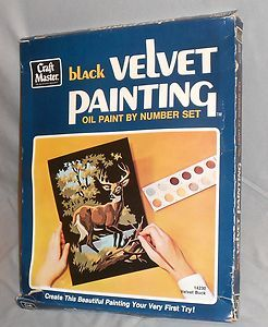 Black Velvet Paint-By-Number-Set