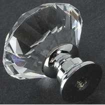 Puxador Maçaneta Cristal 30mm Para Gaveta, Porta E Armários