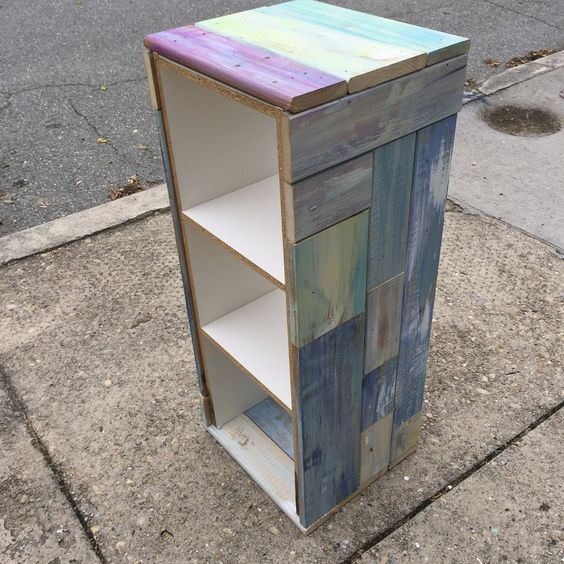 SheShe, The Home Magician: The Scraphappy Furniture Craze Continues!!! A pair of melamine bookshelves...