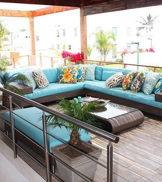 Terraza de casa playa blanca asia per by alma for Muebles terraza casa