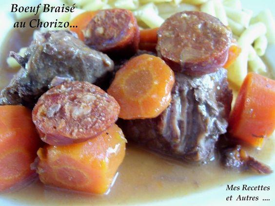 Un bon plat mijoté pour nous réchauffer …. Ingrédients : 1 kg de bœuf 50cl de bière brune 1 petite boite de champignons 150g de chorizo 4/5 carottes 1 oignon 2cs de concentré de tomates 1 cs de farine sel, poivre Émincez l'oignon et le faire revenir dans...