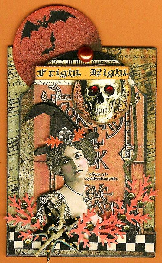 A Nostalgic Halloween: Tombstone ATC - Fright Night