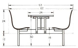 Restaurant Booth Layout Dimensions Elevation View | Carpintería ...