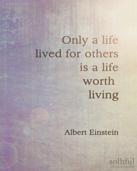Albert Einstein Quote Digital Art Photography 8x10 Print:
