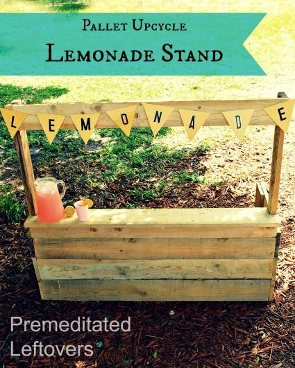 Plays easy diy and pictures of on pinterest for Pallet lemonade stand plans