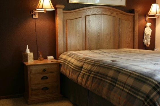 Solid Oak Headboard and Night Stands by Out of the Workshop